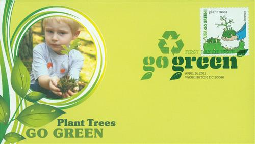 2011 First-Class Forever Stamp - Go Green: Plant Trees