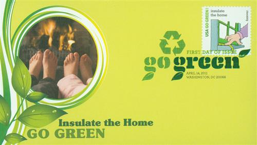 2011 First-Class Forever Stamp - Go Green: Insulate the Home