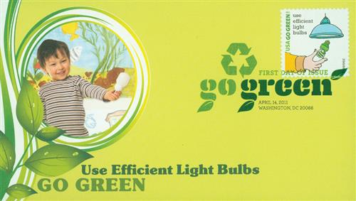 2011 First-Class Forever Stamp - Go Green: Use Efficient Light Bulbs