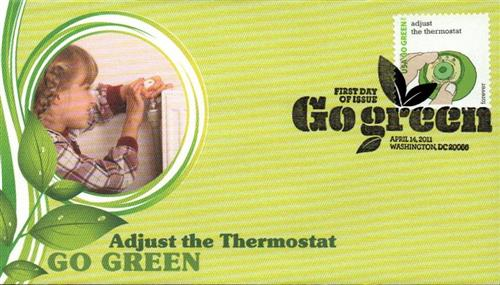 2011 First-Class Forever Stamp - Go Green: Adjust the Thermostat