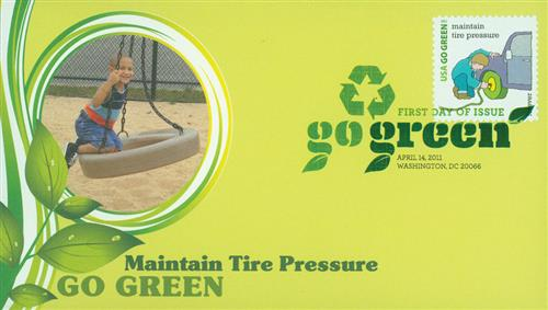 2011 First-Class Forever Stamp - Go Green: Maintain Tre Pressure