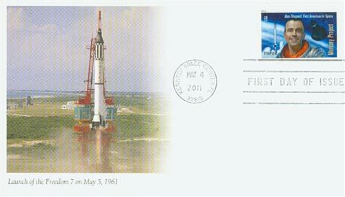 2011 First-Class Forever Stamp -  Space Firsts: Alan B. Shepard