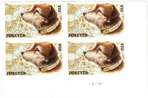 2011 First-Class Forever Stamp -  Owney the Postal Dog