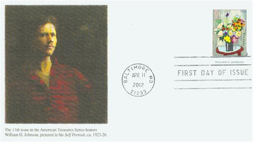 2012 First-Class Forever Stamp - American Treasures: William H. Johnson, Flowers Painting