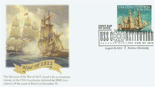 2012 First-Class Forever Stamp - The War of 1812: USS Constitution