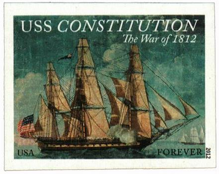 2012 First-Class Forever Stamp - Imperforate The War of 1812: USS Constitution