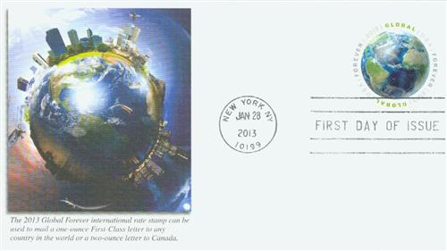 2013 Global Forever Stamp - Earth