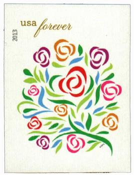 2013 First-Class Forever Stamp - Imperforate Wedding Series: Where Dreams Blossom