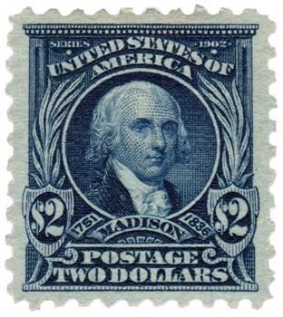 1916-17 $2 Madison, dark blue