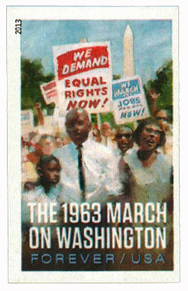 2013 First-Class Forever Stamp - Imperforate The 1963 March on Washington