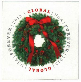 2013 $1.10 Imperf Evergreen Wreath