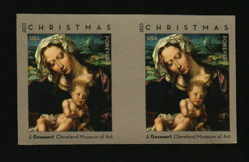 2013 First-Class Forever Stamp - Imperforate Virgin and Child