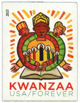 2013 First-Class Forever Stamp - Imperforate Kwanzaa