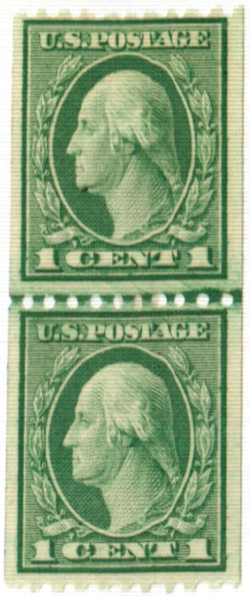 1918 1c Washington, green