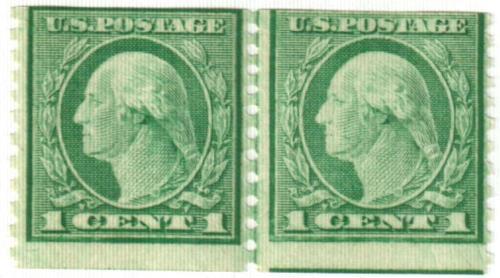 1916 1c Washington, green