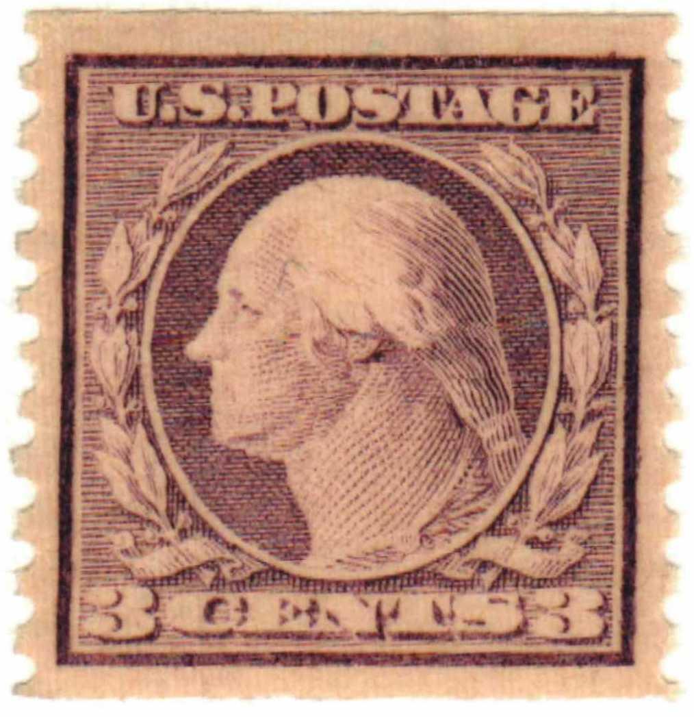 1917 Washington violet, perf 10, Type I