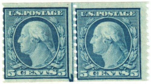 1919 5c Washington, blue