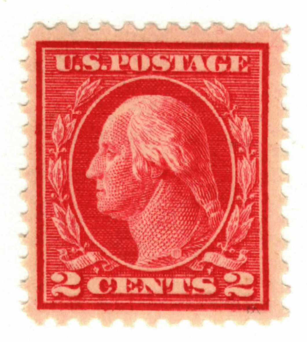 1917 2c Washington, rose, type I