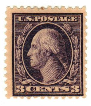 1918 3c Washington, violet, type II