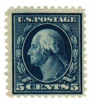 1917 5c Washington, blue