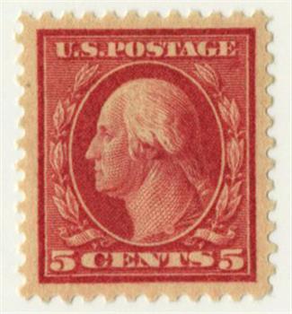 1917 5c Washington Error, red, perf 11