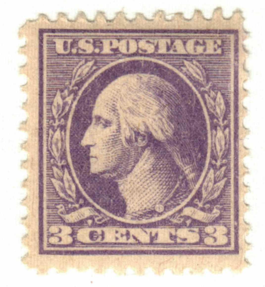 1918 3c Washington, violet, perf 11, type III