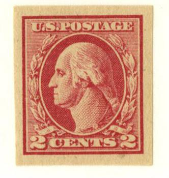 1920 2c Washington, imperforate, carmine rose, type IV