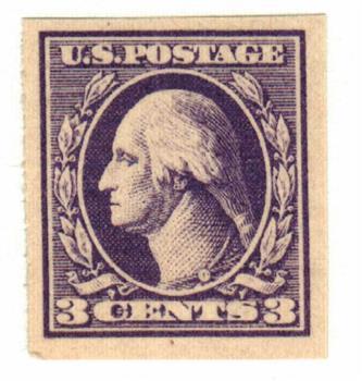 1918 3c Washington, imperforate, violet