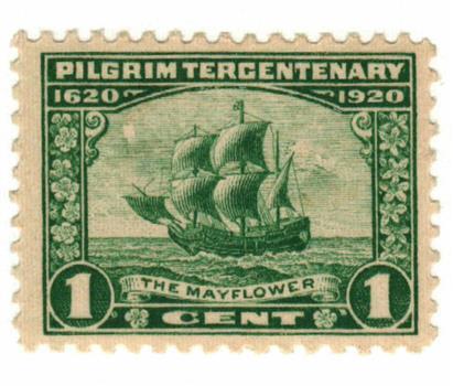 1920 1c Pilgrim Tercentenary: The Mayflower