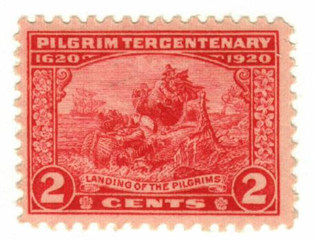 1920 2c Pilgrim Tercentenary: Landing of the Pilgrims