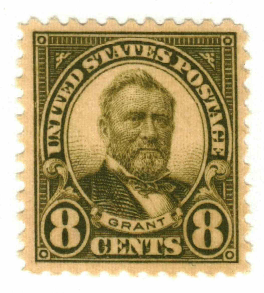 1923 8c grant olive green for at mystic stamp company