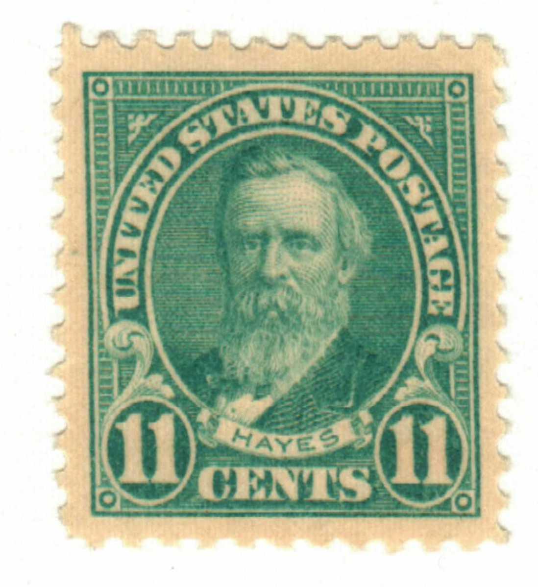 1922 11¢ Hayes, blue, perf 11