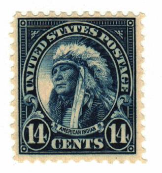 1923 14c American Indian, deep blue