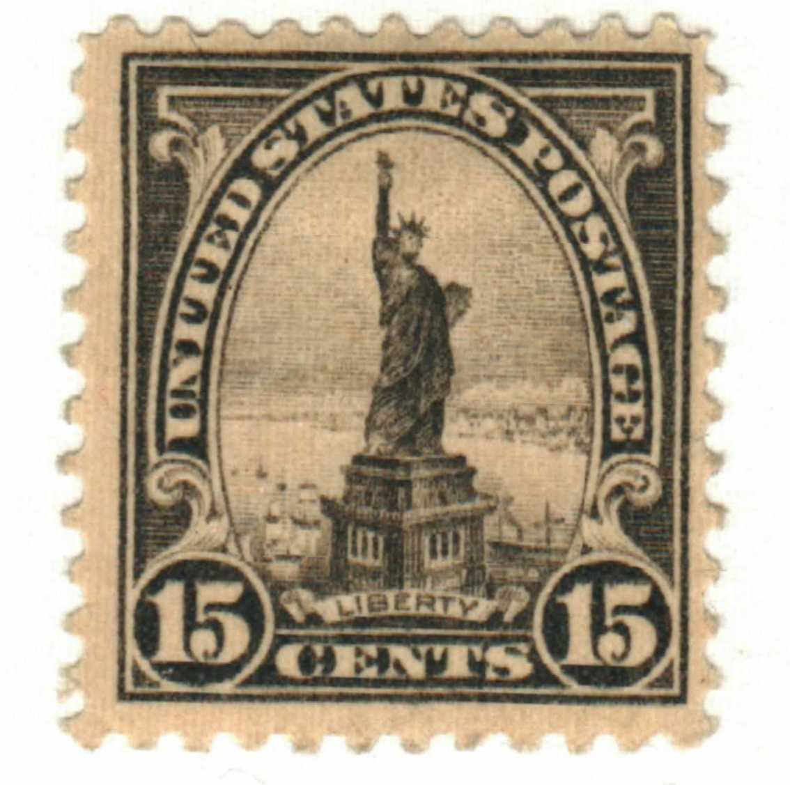 1922 15c Statue Liberty Gray For Sale At Mystic Stamp Company