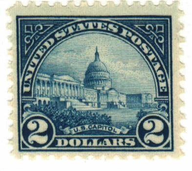 1923 $2 Capitol, deep blue