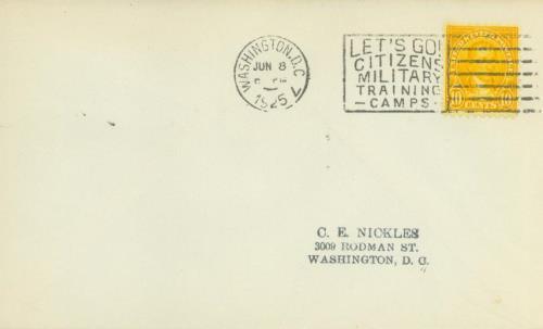 1925 10c Monroe, orange