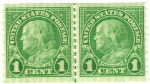 1923 1c Franklin, green, coil