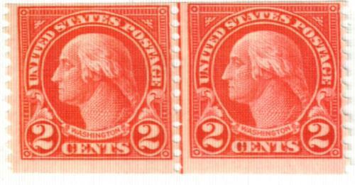 1923 2c Washington, carmine, perf 10