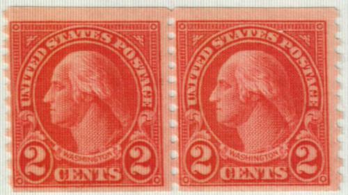 1929 2c Washington, carmine, coil