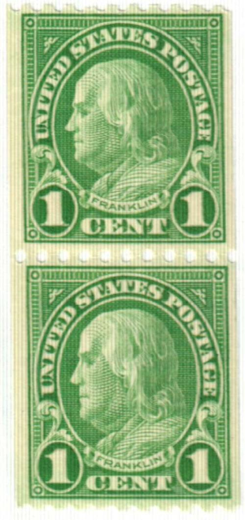 1924 1c Franklin, yellow green, coil