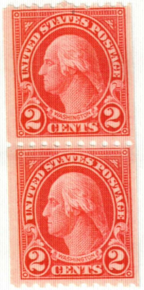 1923 2c Washington, coil