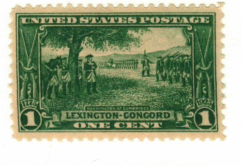 1925 1c Lexington-Concord Issue: Washington at Cambridge