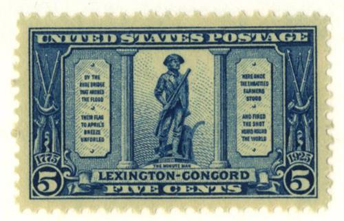 1925 5c Lexington-Concord Issue: The Minuteman