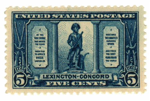 1925 5c Lexington-Concord Issue: The Minuteman for sale at
