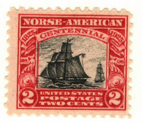 1925 2c Norse-American Centennial: Sloop Restaurationen