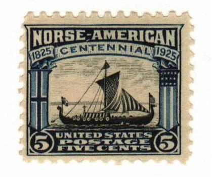 1925 5c Norse-American Centennial: Viking Ship