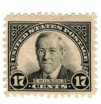 1925 17c Wilson, black, perf 11