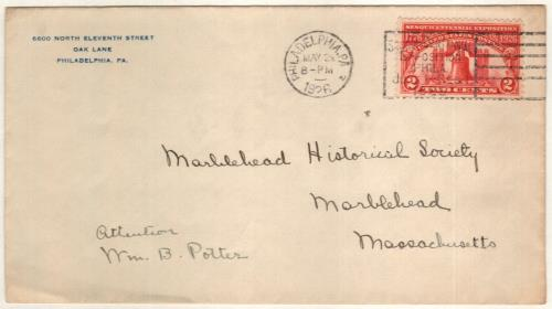 1926 2c Sesquicentennial Exposition