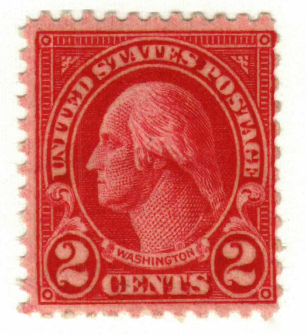1928 2c Washingtoncarmine Type II For Sale At Mystic Stamp Company