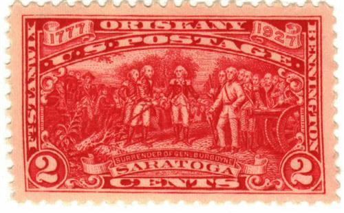 US #644 Burgoyne Campaign